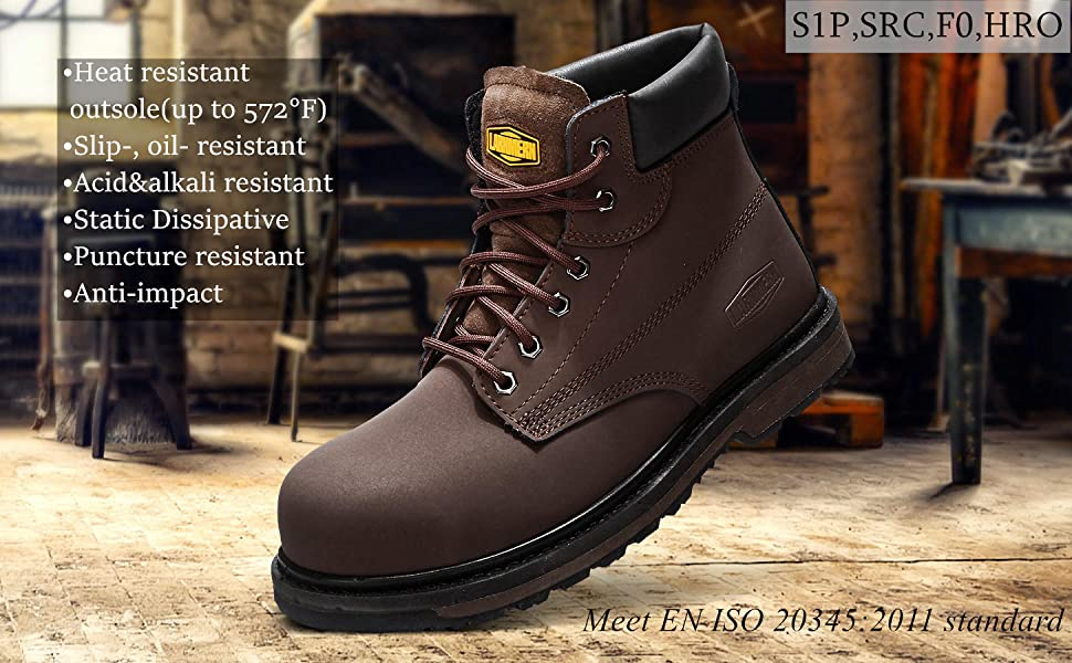 STEEL TOE WORK SHOES BOOTS FOR MEN