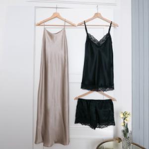 Silk and cashmere nightwear
