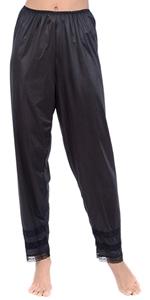 slip pants womens ladies snip it full slip black white natural