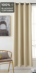 grey window curtain block out sunlight