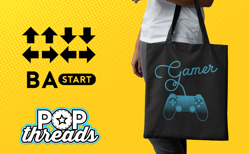 Gamer Gifts Video Game Merchandise Gaming Funny Large Canvas Tote Bag Women