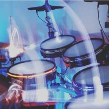 electric drum kit drummer drums light up electronic kids professional play practice perform