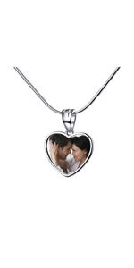 Personalized Bracelet Pendant 925 Sterling Silver Customized Photo Necklace Charms Love Token