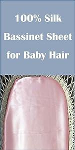 pink silk bassinet sheet
