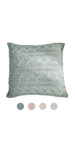woven texture neutral cozy luxury green minimalist pure shrink x18 decorator women solid rustic