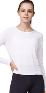 Women's Mesh Cropped Sport Shirts