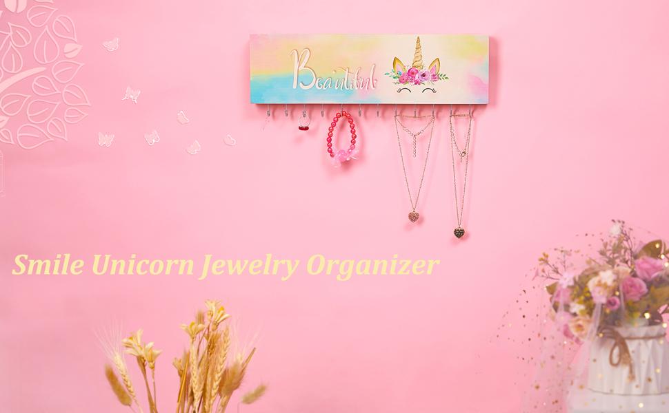 girls jewelry holder girls hair tie holder wall mounted jewelry holder unicorn jewelry holder