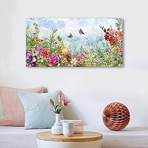 canvas flower wall art