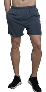 Mens Running Shorts 5 Inch Quick Dry Workout Shorts with Liner and Zipper Pocket