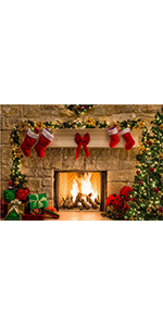 Christmas Tree Photo Background Winter Party Decorations Vinyl 7x5ft