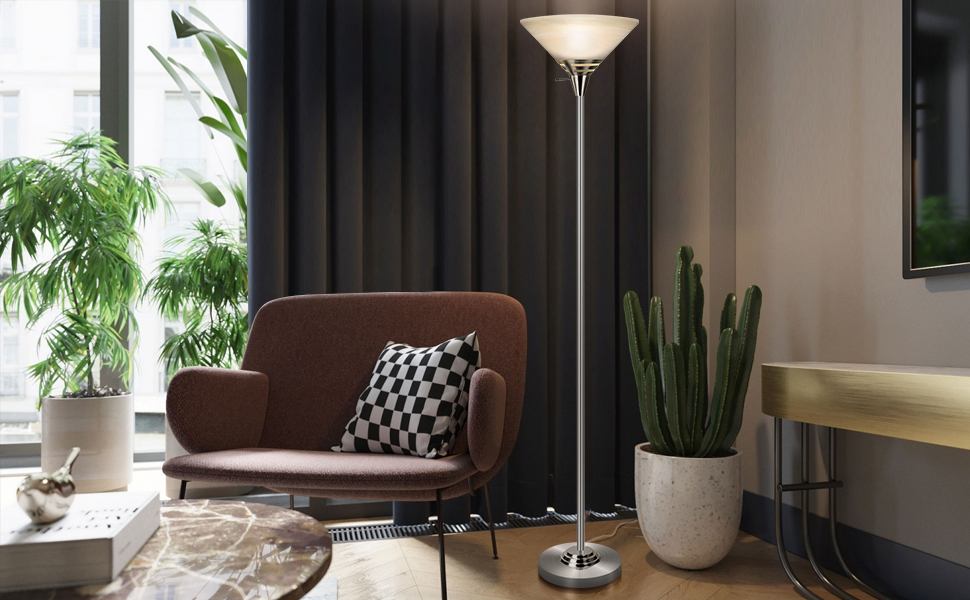 LED Torchiere Floor Lamp for Offices