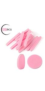 Facial Sponge Compressed,120 Count Pink PVA Professional