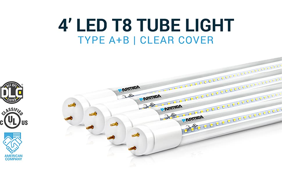 60W Equivalent LED Light Tube 4FT 2640 Lumens 22W AC 85-265V Pack of 25 Frosted Cover T8 Ballast Bypass Required Cold White 6000K Dual-End Powered