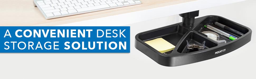 Mount-It! Under Desk Swivel Storage Drawer Tray