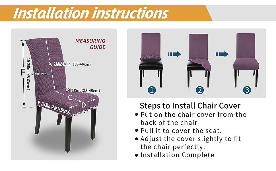 Purple Chair Cover A+4