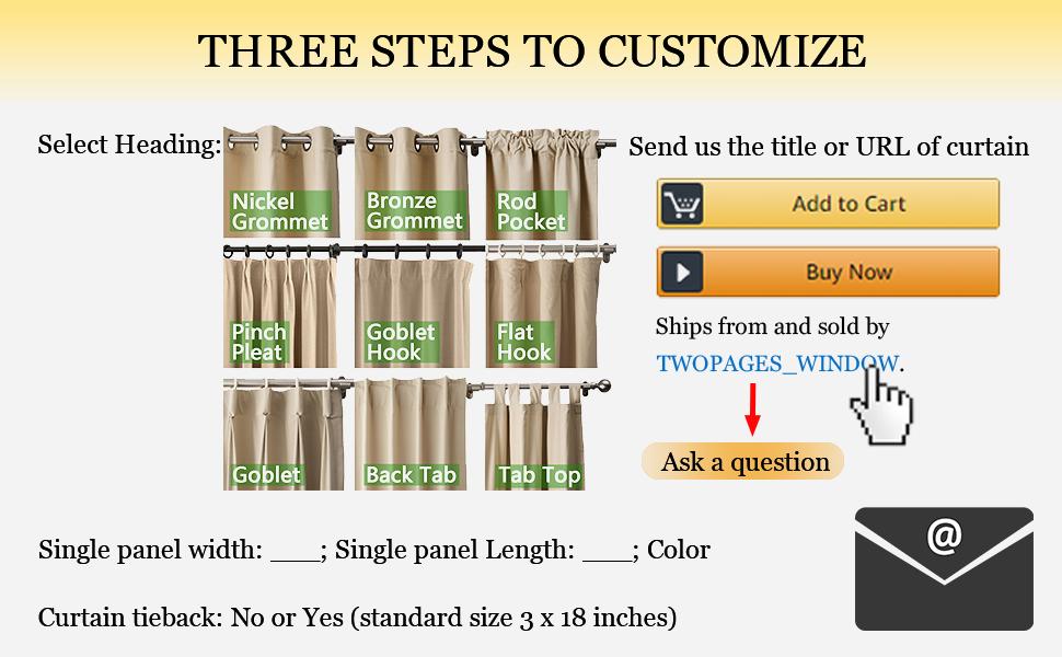 customize curtain