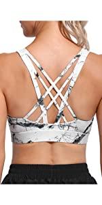 strappy sports bra