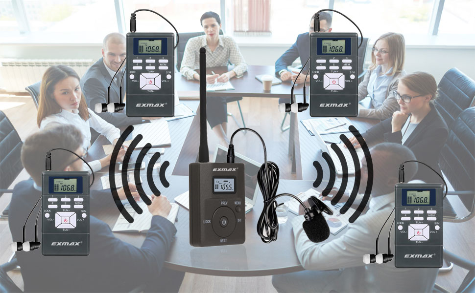 EXG-108 Wireless tour guide system