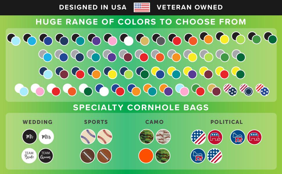 Play Platoon Weather Resistant Cornhole Bags - Set of 8