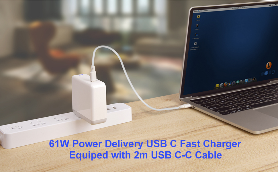 61W Power Delivery USB C Fast Charger