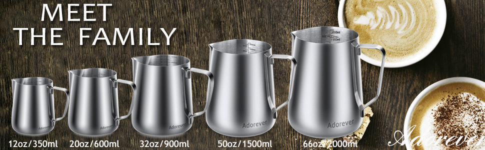 milk steaming pitcher milk jug