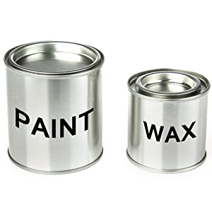 Chalk and Wax metallic paint cans