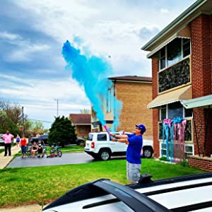 Gender Reveal Powder Cannon Baby Shower Announcement Party Supplies Decorations Confetti
