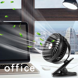 Battery Operated Stroller Rechargeable USB Powered Mini Clip on Desk Fan