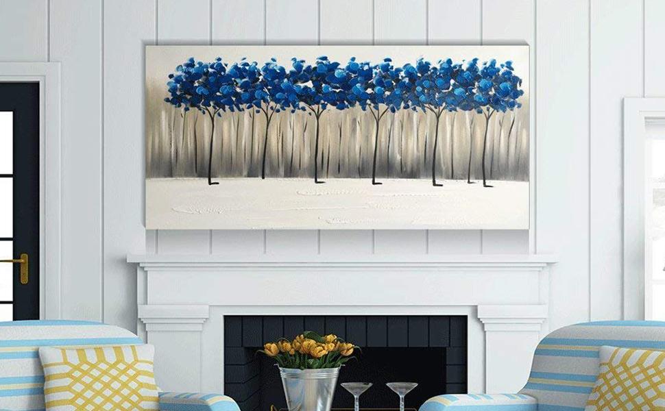 Blue Wall Decor Idea