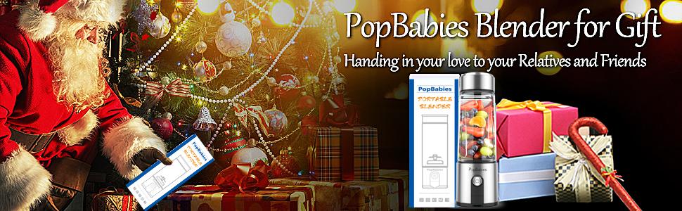 PopBabies Portable blender Christmas gift Thanksgiving gift for Mom gift for kids gift for family