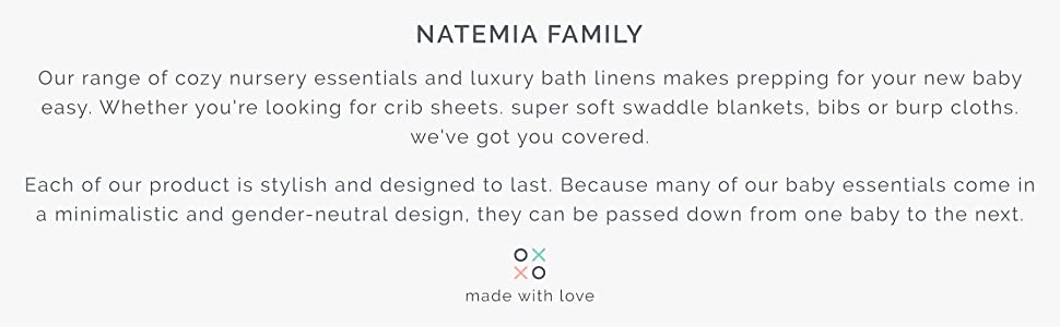 natemia nursery essentials bamboo linens cotton hooded towels towel