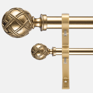 Ycolnaefllr Set of 2 Golden Double Curtain Rod Brackets