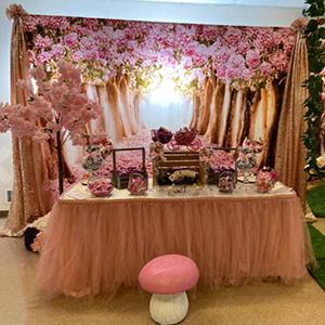 Pink Sakura Tree Backdrop