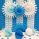 Blue White Snowflake Decorations