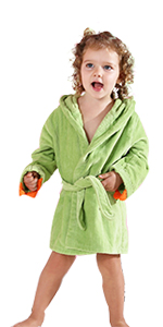 Green Dinosaur Bathrobe