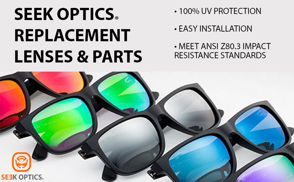replacement lenses, uv protection, ansi, impact resistant, mirror,, installation, compatible