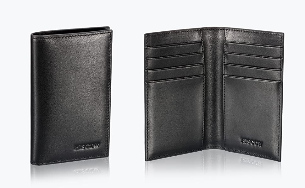 HISCOW Bifold Credit Card Holder 8cc - Full Grain Leather