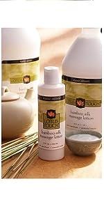 Lotus Touch Organic Naturals Bamboo Silk Massage Lotion