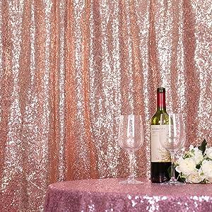 rose gold glitter backdrop