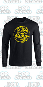 Cobra Kai Karate Kid Merchandise Retro No Mercy Full Long Sleeve Tee T-Shirt