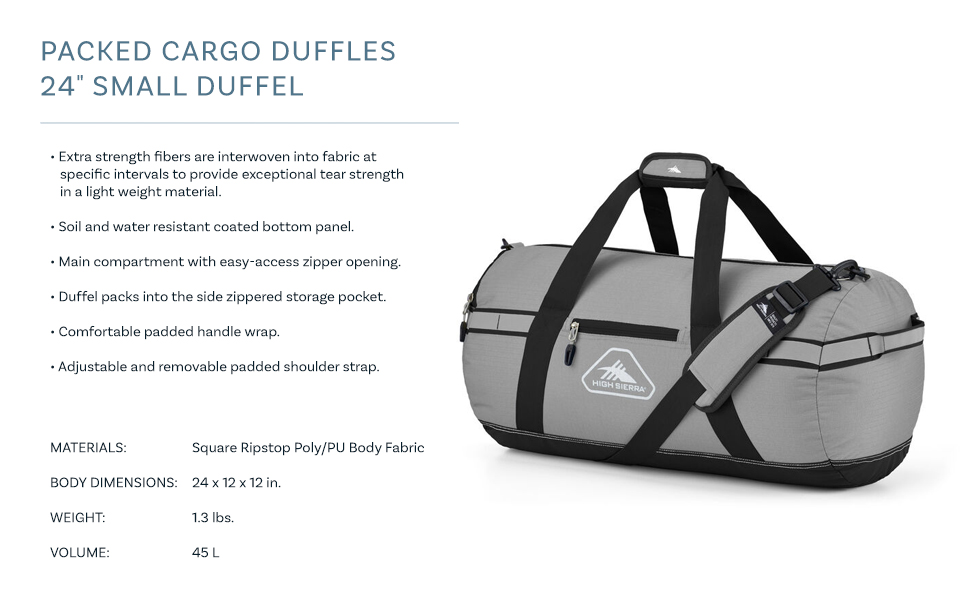 carry carry-on on duffle hi highsierra packable pad casual strap storage siera travel travel hockey