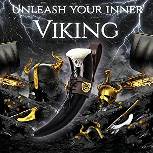 Drinking horn costume viking beer mug belt men medieval drinking game sword thrones leather holder