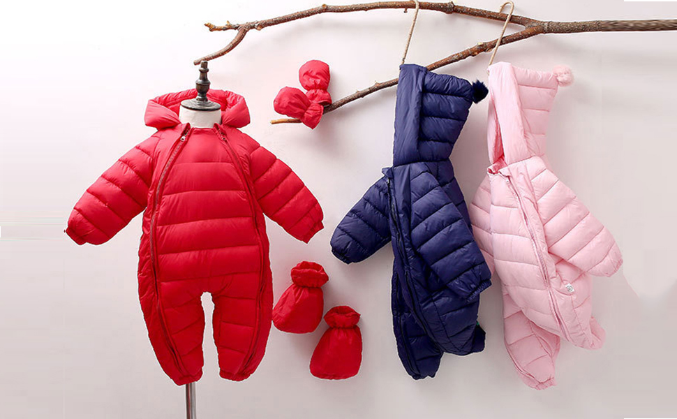 Baby Newborn Thick Hooded Winter Snowsuit