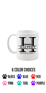customized white ceramic coffee mug