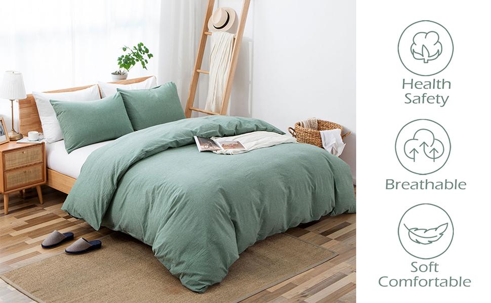 Breathable Comfortable Duvet Cover Set