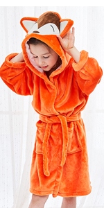 Orange Bathrobe