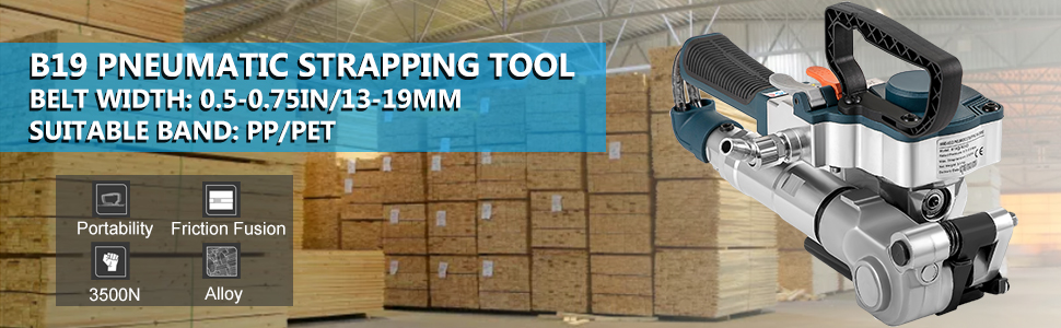 Pneumatic-strapping tool
