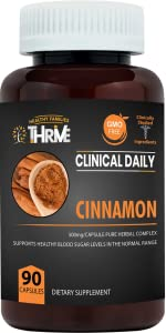 CLINICAL DAILY Cassia Cinnamon Capsules Blood Sugar Anti inflammatory Infection support supplement