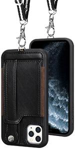 iPhone 11 Pro Max wallet case Black