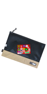 Sturdiness durability good quality well made works great pouch file carry red papers green paper A4